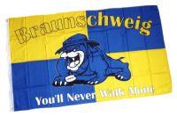 Fahne / Flagge Braunschweig Bulldogge Fan 90 x 150 cm