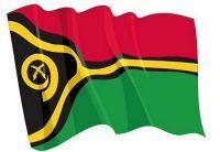 Fahnen Aufkleber Sticker Vanuatu wehend