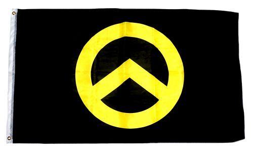 Fahne / Flagge Identitäre Bewegung schwarz 90 x 150 cm