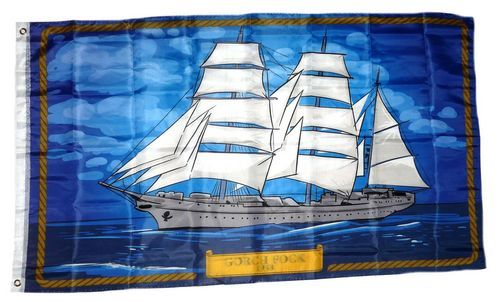 Fahnen Flagge Gorch Fock 90 x 150 cm