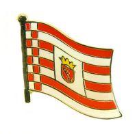 Flaggen Pin Fahne Bremen Pins NEU Anstecknadel Flagge