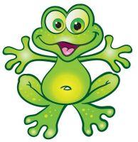 Aufkleber Sticker Lustiger Frosch