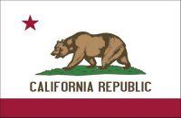 Fahnen Aufkleber Sticker USA - Kalifornien Aufkleber