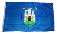 Fahne / Flagge Kroatien - Zagreb 90 x 150 cm