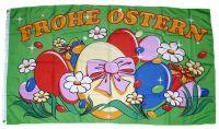 Fahne / Flagge Frohe Ostern Eiernest 60 x 90 cm