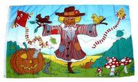 Fahne / Flagge Herbst Vogelscheuche 90 x 150 cm