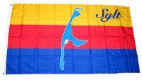 Flagge / Fahne Insel Sylt Hissflagge 90 x 150 cm