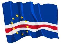Fahnen Aufkleber Sticker Kap Verde wehend