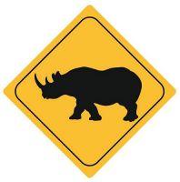 Autoaufkleber Sticker Achtung Nashorn NEU Aufkleber