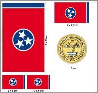 Fahnen Aufkleber Set USA - Tennessee