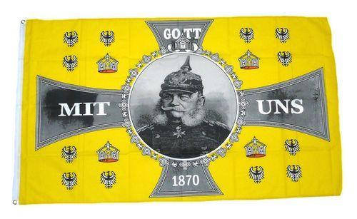 Fahne / Flagge Gott mit uns Kaiser Wilhelm 1870 90 x 150 cm