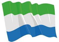 Fahnen Aufkleber Sticker Sierra Leone wehend