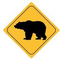 Aufkleber Sticker Achtung Bär Autoaufkleber