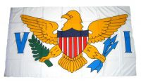 Flagge / Fahne Amerikanischen Jungferninseln Hissflagge 90 x 150 cm