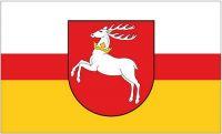 Fahne / Flagge Polen - Woiwodschaft Lublin 90 x 150 cm