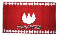 Flagge / Fahne Franken Schrift rot Hissflagge 90 x 150 cm