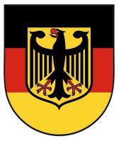 Wappenschild Aufkleber Sticker Deutschland Adler