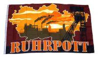Fahne / Flagge Ruhrpott Silhouette 90 x 150 cm