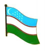Flaggen Pin Usbekistan