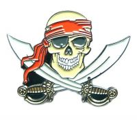 Pin Pirat Schwerter Anstecker NEU Anstecknadel
