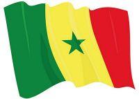 Fahnen Aufkleber Sticker Senegal wehend