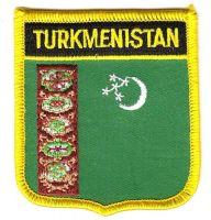 Wappen Aufnäher Fahne Turkmenistan