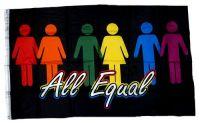 Fahne / Flagge All Equal Regenbogen 90 x 150 cm