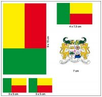 Fahnen Aufkleber Set Benin