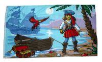 Fahne / Flagge Piratenprinzessin 90 x 150 cm