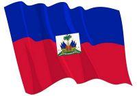 Fahnen Aufkleber Sticker Haiti wehend
