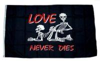 Fahne / Flagge Love never dies 90 x 150 cm