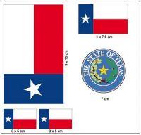 Fahnen Aufkleber Set USA - Texas
