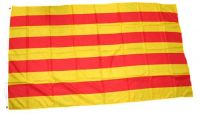 Fahne / Flagge Spanien - Katalonien 90 x 150 cm