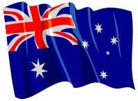 Fahnen Aufkleber Sticker Australien wehend