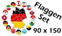 Flaggenset Deutschland 16 Bundesländer 90 x 150 cm