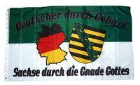 Fahne / Flagge Sachse durch die Gnade Gottes 90 x 150 cm