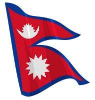 Fahnen Aufkleber Sticker Nepal wehend