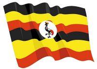 Fahnen Aufkleber Sticker Uganda wehend