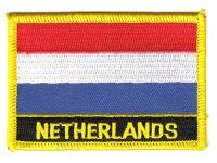 Fahnen Aufnäher Niederlande Schrift