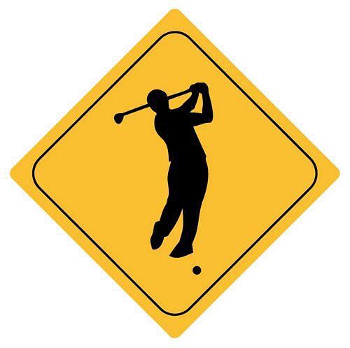 Aufkleber Sticker Achtung Golf Autoaufkleber