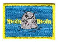 Fahnen Aufnäher Moin Moin Seehund