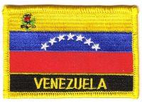 Fahnen Aufnäher Venezuela Schrift