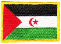 Fahnen Aufnäher West Sahara