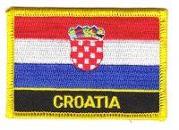 Fahnen Aufnäher Kroatien Schrift