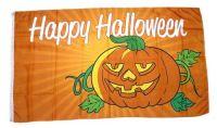Fahne / Flagge Happy Halloween gelb NEU 90 x 150 cm