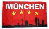 Fahne / Flagge München Silhouette 90 x 150 cm