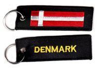 Fahnen Schlüsselanhänger Dänemark