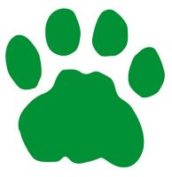 Aufkleber Sticker Tatze Pfote grün