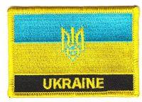 Fahnen Aufnäher Ukraine Wappen Schrift