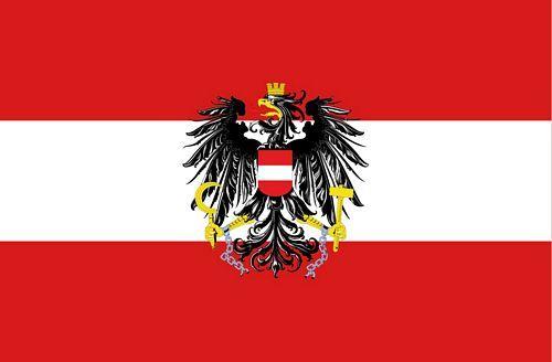 Fahnen Aufkleber Sticker Österreich Adler